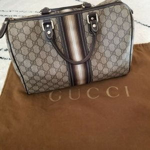 Authentic Gucci GG Boston Speedy Satchel